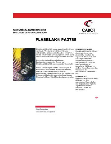 PLASBLAK® PA3785 - Cabot Corporation