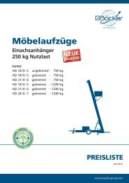 Möbelaufzüge - Albert Böcker GmbH & Co. KG