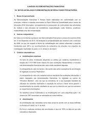 12. notas ao balanço e à demonstração de resultados por natureza