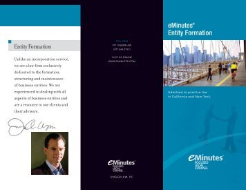 eMinutes® Entity Formation Entity Formation