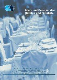Miet- und Eventservice Katalog und Preisliste - Chr. Hubensack ...