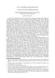 21. Revolution bei Thomas Müntzer. Durchsetzung des Reiches ...