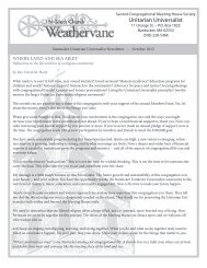Weathervane, October 2012 (PDF) - The Unitarian Church on ...