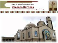 Deacons Services - St. Mary and St. Joseph Coptic Orthodox Church