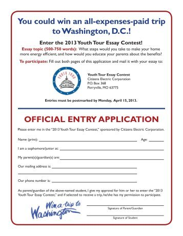 Catcher In The Rye Essay Thesis You Could Win An Allexpensespaid Trip To Washington Dc  High School Persuasive Essay Topics also Help Writing Essay Paper Th Grade Washington Dc Trip Purpose Of Thesis Statement In An Essay