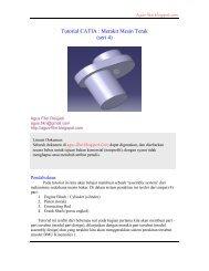Tutorial CATIA : Merakit Mesin Torak (seri 4)