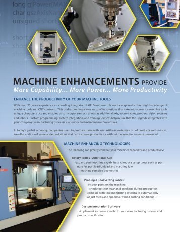 Brochure (PDF) - CNC Engineering, Inc.