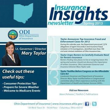 Spring 2013 - Ohio Department of Insurance