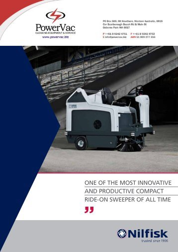 Nilfisk SR1301 Ride on Sweeper brochure