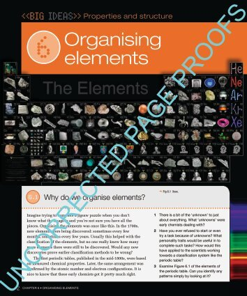2 Chapter 6 • organising elements Organising elements