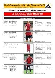 Trainingspaket für die Mannschaft Clever einkaufen • Geld sparen!