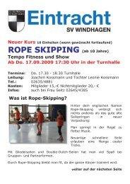 ROPE SKIPPING - SV Windhagen