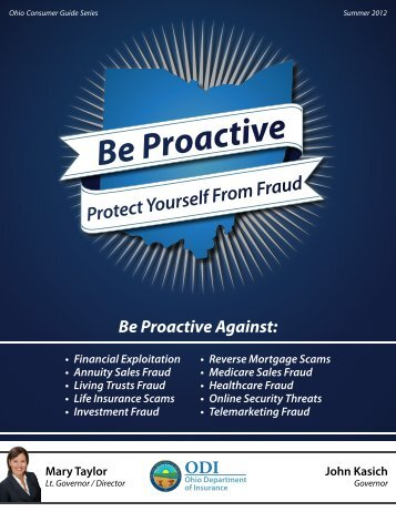 Be Proactive: Protect Yourself from Fraud - Ohio Department of ...