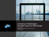 University of Washington Runstad Center for Real Estate