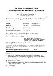 Protokoll der Gemeindeversammlung vom 23. November 2012