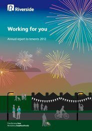 Annual report to tenants 2012 - Riverside