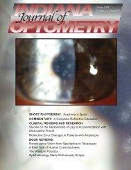 Spring 2008 - Indiana University School of Optometry