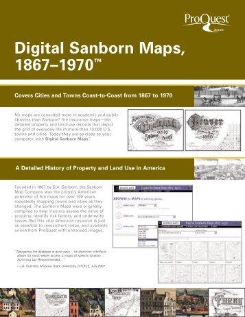 ProQuest - Digital Sanborn Maps Brochure (PDF)