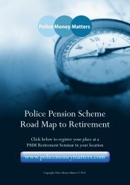 Police Pension Scheme Road Map to Retirement - Police Federation