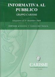 Informativa al Pubblico 2008 - Cassa di Risparmio di San Miniato