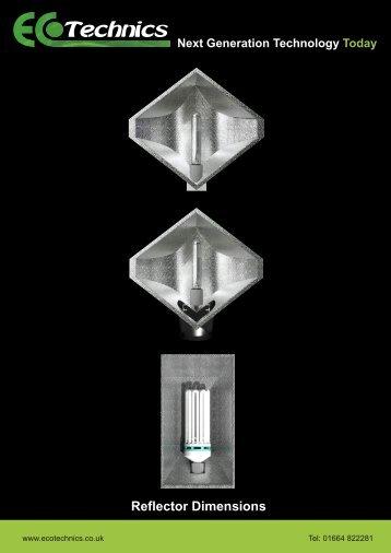 Reflector Dimensions - Ecotechnics