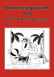 Ferienprogramm 2013 - Wasserburg am Inn!