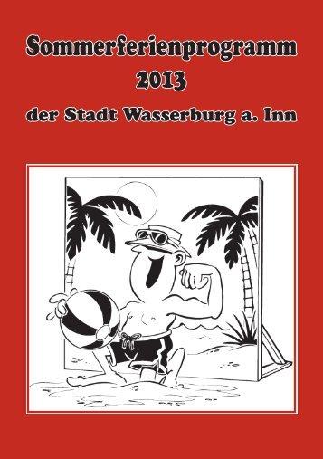 Ferienprogramm 2013 - Wasserburg am Inn!