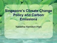 Singapore's Climate change policy and carbon emissions