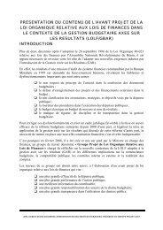 presentation du contenu de l'avant projet de la loi organique relative ...