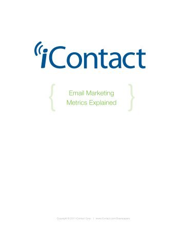 Email Marketing Metrics Explained - iContact