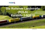 Die Rollende Landstraße (ROLA) Kurzinfo 1-9/2010