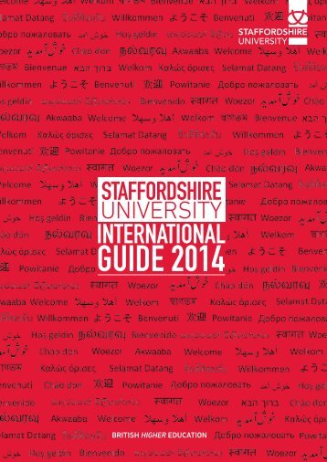 Download our International Guide - Staffordshire University