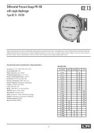 Differential Pressure Gauge PN 100 with single diaphragm Type 02.13