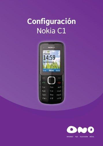 Configuración Nokia C1 - Ono