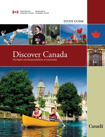 Discover Canada - Study Guide - Citoyenneté et Immigration Canada