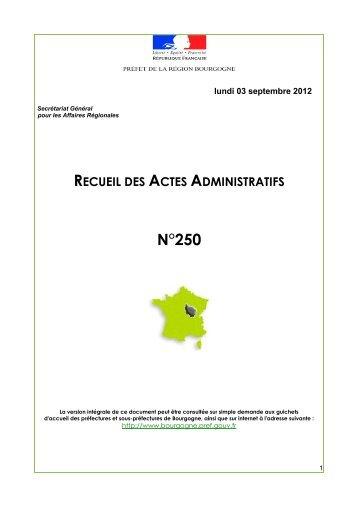 RAA 250 - Préfecture de la Côte-d'Or