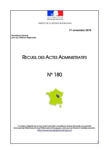 RAA 180 - Préfecture de la Côte-d'Or