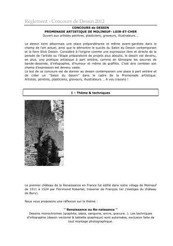 Règlement - Concours de Dessin 2012 - Mairie de Molineuf