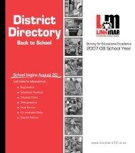 District Directory: Back to School 2007 - Linn-Mar Community ...