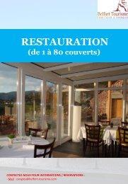 Restauration (moins de 80 couverts) - Belfort Tourisme
