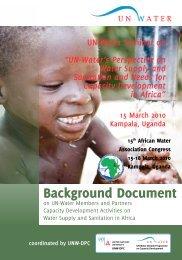 Background Document - UNW-DPC - United Nations University