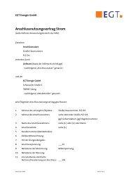 Anschlussnutzungsvertrag Mittelspannung - EGT Energie