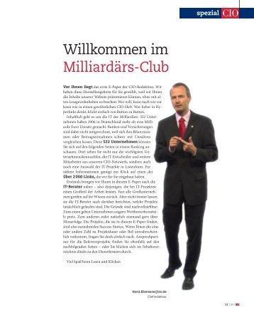 Willkommen im Milliardärs-Club - CIO.de