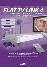 Vier Geräte mit nur einem Kabel an Ihren Fernseher anschließen ...