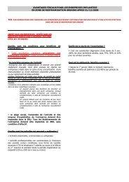 le dispositif d'exonérations fiscales et sociales - Document sans nom