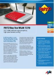 FRlTZ!BOX Fon WLAN 7270