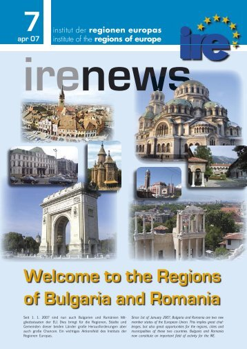 Welcome to the Regions of Bulgaria and Romania - Institut IRE