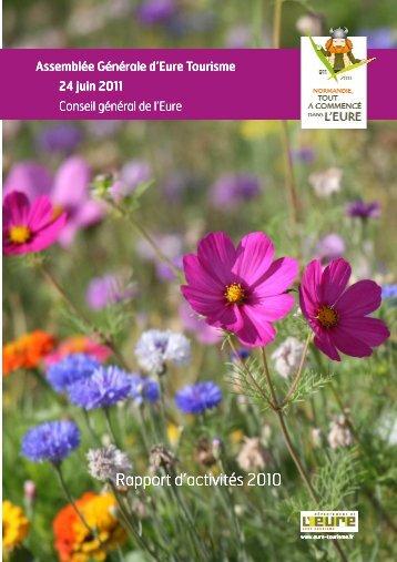 Le Rapport de l'Assemblée Générale 2010 - Eure Tourisme