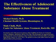 Cannabis Youth Treatment - CYT - Chestnut Health Systems