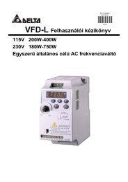 VFD-L Felhasználói kézikönyv - T2 CNC